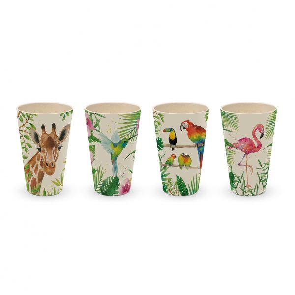 PPD Bambus Becherglas Set 'Tropical'