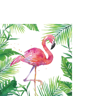 PPD Papierserviette 'Tropical Flamingo'