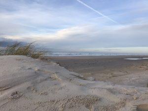 Schöner Himmel am Strand von Blokhus