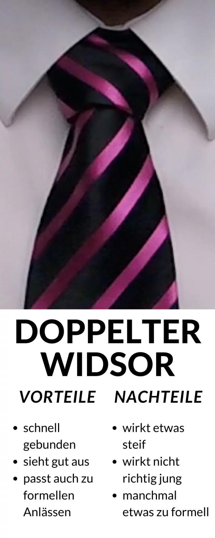 Doppelter Windsor vor und Nachteile