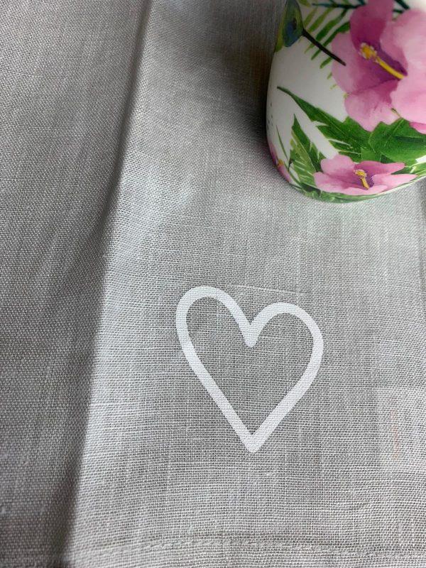 Geschirrtücher Set - weißes Herz